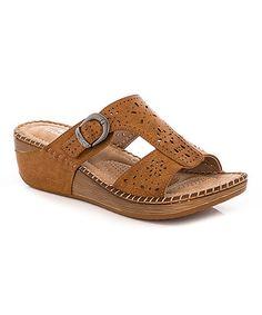 Look at this #zulilyfind! Tan Buckle Sandal #zulilyfinds
