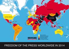 Press freedom around the world, mapped. // Sure?