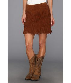 Fringe Suede Skirt from Stetson #western #style #zappos