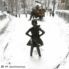 @downtownnyc: Snow and ice could be falling but she's not going anywhere #downiswhatsup