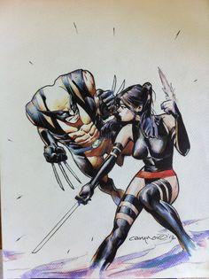 Wolverine vs Psylocke by Cary Nord #XMen #XForce
