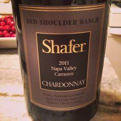 Shafer 2011 Red Shoulder Chard. Very nice.