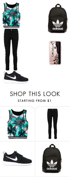 """"""""""" by alexiscmcdougald ❤ liked on Polyvore featuring NIKE, adidas Originals and Casetify"""