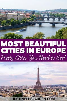These are the most beautiful cities in Europe that you must see! Add all of these pretty European cities to your travel bucket list. Most beautiful cities in Europe | Most beautiful cities Europe | Beautiful European cities | Europe photography beautiful places | Pretty cities in Europe | Pretty European cities | Best cities in Europe to visit | Places to visit in Europe | Places to see in Europe | Where to travel in Europe | Europe cities bucket list