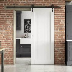 Curated by Jeld Wen Enhance your dining, study, kitchen or bedroom areas with this Solid MDF Panelled Internal Stable Door. Supplied pre-primed ready for a final top coat so you can add your own unique flair to mirror your personality. Indoor Sliding Doors, Internal Sliding Doors, Barn Style Sliding Doors, Modern Sliding Doors, Barn Doors, Sliding Door For Bathroom, Kitchen Sliding Doors, Sliding Windows, The Doors