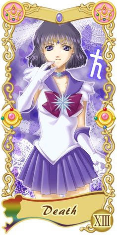 Pretty Guardian Sailor Moon Original Tarot Cards: XIII - Death   by Ryukia @ Pixiv.net // #sailormoon