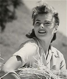 Ingrid Bergman: Strikingly young, in the early 1940s, during her Hollywood heyday.  L.M. Ross