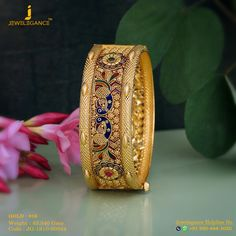 Gold 916 Premium Design Get in touch with us on 919904443030 Gold Ring Designs, Gold Bangles Design, Gold Earrings Designs, Gold Jewellery Design, Silver Jewellery, Real Gold Jewelry, Gold Jewelry Simple, Quartz Jewelry, Jewelry Patterns
