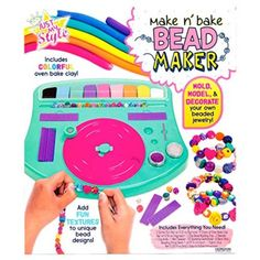 Horizon Crafts Make & Bake Bead-Maker Kit Craft Kits For Kids, Crafts For Girls, Crafts To Make, What Are Crystals, Diy Crystals, Oven Bake Clay, Baking Clay, Fabric Glue, Clay Beads