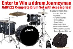 Win this ddrum Journeyman drum kit! Were giving away this drum kit for our Vinny Appice live event August 30th! More details visit GoDpsMusic.com #drummer #drummers #ddrum #music #win