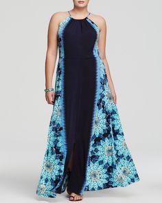Jogo de estampa na modelagem plus size. Melissa Masse Plus Floral Print Maxi Dress   Bloomingdale's