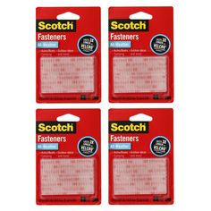 "3M Scotch All-Weather Fastener Strips (Pack of 4) (Fastener Strips, 1"" x 3"",, 4/Packs)"