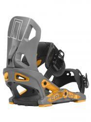 Now Select Snowboard Bindung gunmetal/orange