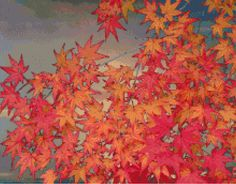 Cross Stitch | Autumn Leaves xstitch Chart | Design