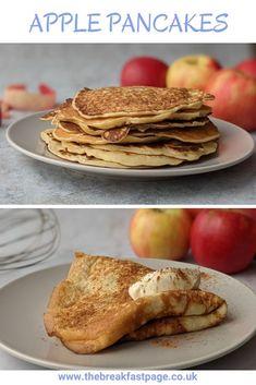 Apple pancakes Slimming World Pancakes, Milk And Eggs, Cinnamon Apples, Brunch, Snacks, Cooking, Healthy, Breakfast, Kitchens