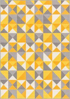Vector Yellow Indoor/Outdoor Area Rug  | Wayfair