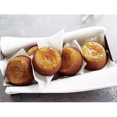 Apricot upside-down cakes recipe - By Australian Women's Weekly, These delightful mini cakes are wonderfully light, moist and are topped with beautiful juicy fresh apricot.