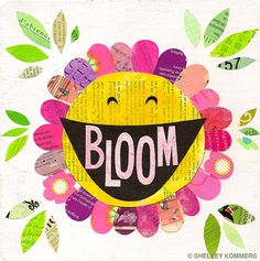 Bloom Collage PRINT - Happy Inspiration