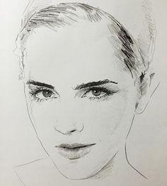 Emma Watson #emmawatson #harrypotter #art #artist #artwork #nailart #instaart #arte #artsy #artoftheday #artistic #arts #draw #drawing #drawingoftheday #sketch #sketchbook #sketching #paper #pen #pencil #dibujo #ink