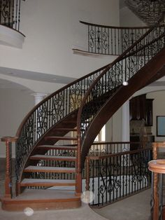 Interior Antique Steel Stair Rail With Scroll Pickets And Wood Capture Space Large Design Indoor Home Pillar Design Decor For Home Ideas White Wall Paint Design Stair Railing Design for Contemporary House Stair