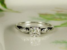 Antique Diamond Engagement Ring High by LadyRoseVintageJewel, $1550.00