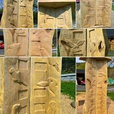 Dřevořezba - Indiánský kalendář