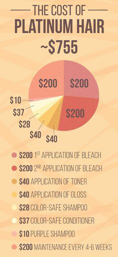 At the end of the day, here's about how much money it costs to have platinum hair.