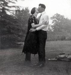 Vintage photo Kissing Couple Greeting card vintage photo. $6.50, via Etsy.