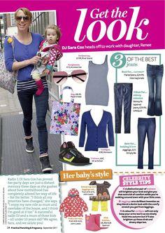 PRINT - Practical Parenting & Pregnancy September 2011: Celeb mum fashion – Sara Cox