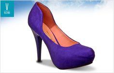 Sapato Vizzano de bico arredondado e salto alto azul klein http://www.beckercalcados.com.br/scarpin-vizzano-1143300-1222.aspx/p
