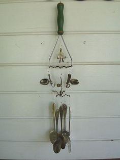Masher windchime. love the twirled spoon handles.
