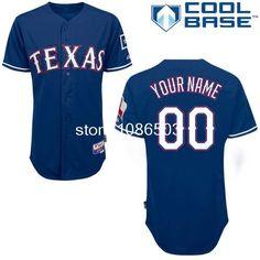 38dd0940c New 2014 Cheap Wholesale Mlb Men s Customize Texas Rangers Baseball Jerseys  Custom Baseball Jersey Cool Base