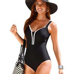 プラスサイズ水着2016新しい夏のビーチウェア水着プリントストライプヴィンテージワンピース水着女性水着黒4xl