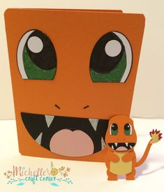 Charmander Face Card and matching little guy More