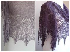 Lace shawl knitting patterns by Boo-Knits - get them at LoveKnitting! I just learnt Dragonfly Wings was Boo Knit's first design. (not this picture though!)This is a great interview for fans of this talented Brit.