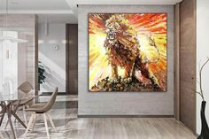 Animal painting on canvas with acrylic paint Lion painting image 4 Painting Gallery, Art Gallery, Original Paintings, Original Art, Lion Painting, Colorful Artwork, Kids Room Art, Extra Large Wall Art, Office Wall Art