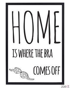 Een leuke poster van Zoedt in zwart/wit met een grappige tekst. Leuk om met een of twee andere posters te combineren.