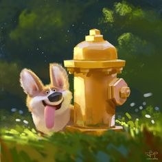 The fire hydrant, Lynn Chen on ArtStation at https://www.artstation.com/artwork/LonBl