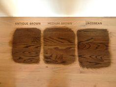 Antique Brown, Medium Brown, Jacobean Wood Stain
