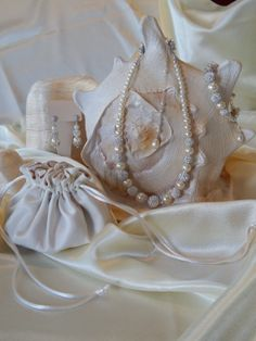 BRIDAL TRIO: Brides Pearl and Pave Necklace, Bracelet and Earrings! Complimentary Shipping!