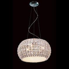 Bugatti Crystal Pendant Light from Alexander and Pearl - modern but a touch of 60's glam