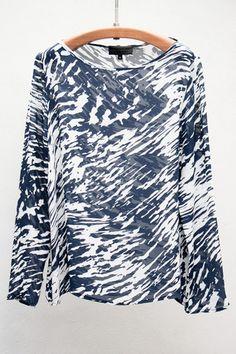 Abstract Wave Long Sleeve Tee- nili lotan