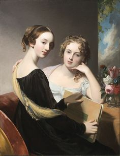 """""""Portrait of the Misses Mary and Emily McEuen"""", 1823, by Thomas Sully (English, 1783-1872)"""