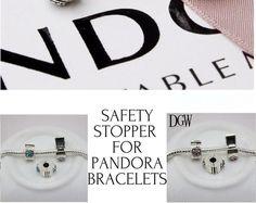 Authentic CLIP LOCK Spacer Stopper Charm Bead safety Suits Pandora Bracelet #GOMAXDGW #Spacer