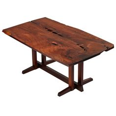 "Solid Rosewood George Nakashima Masterwork ""Single Board"" Table 