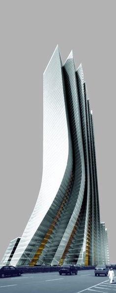 Empire Island Tower Abu Dhabi, UAE designed by Aedas 57 floors, height Architecture Dynamic Architecture, Futuristic Architecture, Beautiful Architecture, Contemporary Architecture, Architecture Design, Unusual Buildings, Amazing Buildings, Modern Buildings, Dubai Buildings