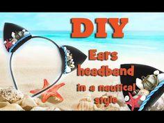 Ears headband. Accessory in a nautical style.
