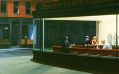 edward hopper nighthawks at the diner 2560x1600 wallpaper Art HD Wallpaper