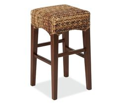 not as practical, but good looking.  great texture.  Seagrass Backless Barstool | Pottery Barn
