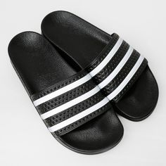 adidas Originals Sandaler - Adilette Core Black/White/Core Black
